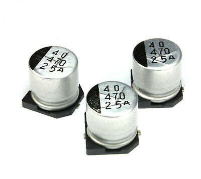 25pcs 470uf 25v Sanyo Cv-ax Radial Electrolytic Capacitor Smd Low Impedance