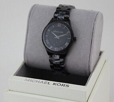 NEW AUTHENTIC MICHAEL KORS LAURYN BLACK CRYSTALS WOMEN'S MK4337 WATCH