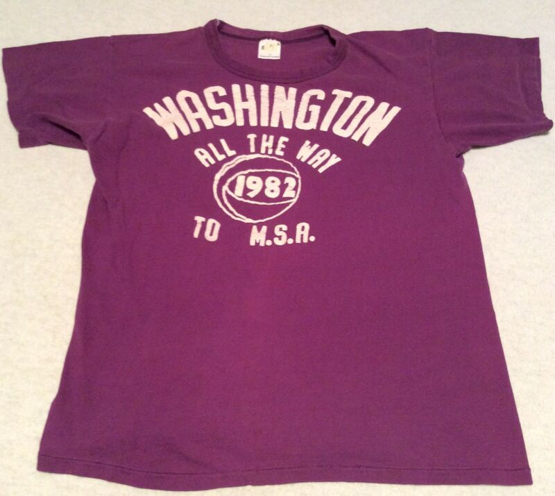 Vintage Indiana Washington High School Youth M Single Stitch Russell T-Shirt