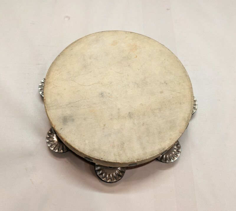 """Antique Late 19th Century / Early 20th Century Tambourine 7"""""""
