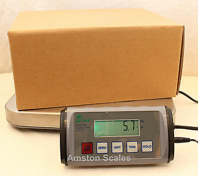 330 X .1 Lb Digital Shipping Scale 12 X 12 Tray Postal Ups Fedex Usps Weight