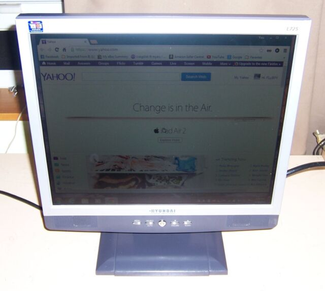 """Hyundai Fort Myers >> Hyundai ImageQuest L72S 17"""" LCD Monitor with built-in speakers 