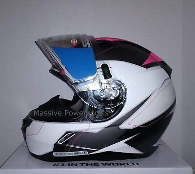 HJC CL-17 Omni Electric Snowmobile Helmet Pink White S SM Small Snell M2015