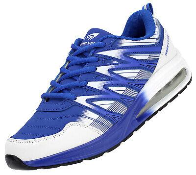 Herren Damen Teens Sneaker Sportschuhe Laufschuhe Turnschuhe Schnürer Blau 16183