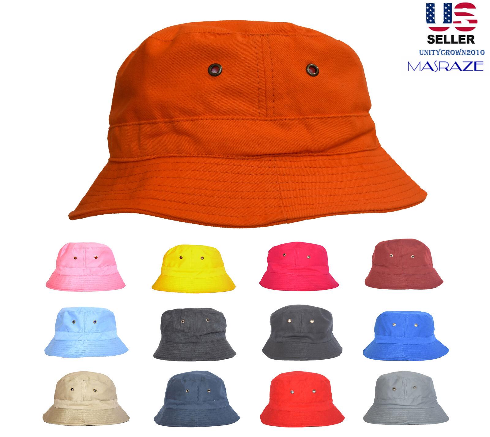 Bucket Hat 2 INCH Boonie Cap Cotton Fishing Hunting Safari S