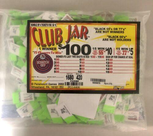 $1 CLUB JAR 420 COUNT JAR TICKET $100 SEAL $95 PROFIT