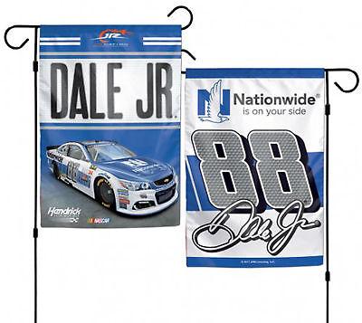 Nascar Garden Flag (Dale Jr #88 Double Sided Nationwide Garden Flag NASCAR 12