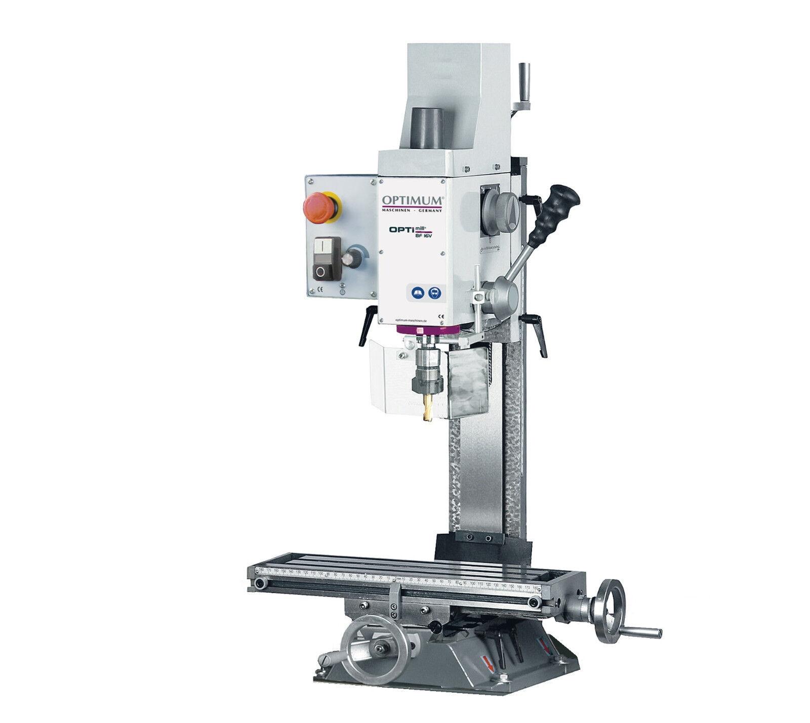 OPTIMUM Bohr- und Fräsmaschine OPTImill BF 16Vario 230V bohren fräsen stufenlos