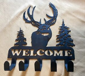 Deer Key Holder Metal Art Decoration