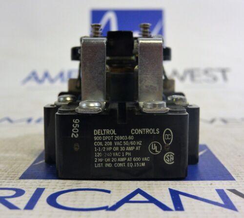 DELTROL Controls 900 DPDT Contactor  26903-60  208 volt