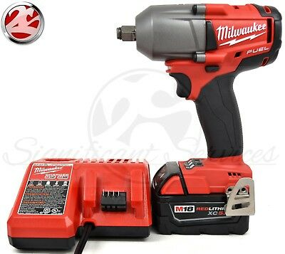 "Milwaukee 2861-20 M18 FUEL Mid-Torque 1/2"" Friction Ring Impact Wrench Tool Kit"