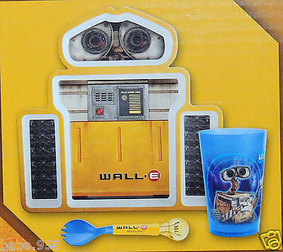 DISNEY  PIXAR WALL E DINNERWARE SET PLATE, CUP AND FORK Fork Cup Set