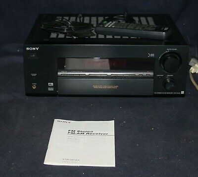 Sony STR-DA1ES ES Home Theater Receiver W/Remote and Manual - BUNDLE