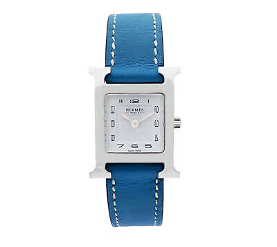 Hermes Heure H Stainless Steel White Dial Swiss Quartz Ladies Watch HH1.210