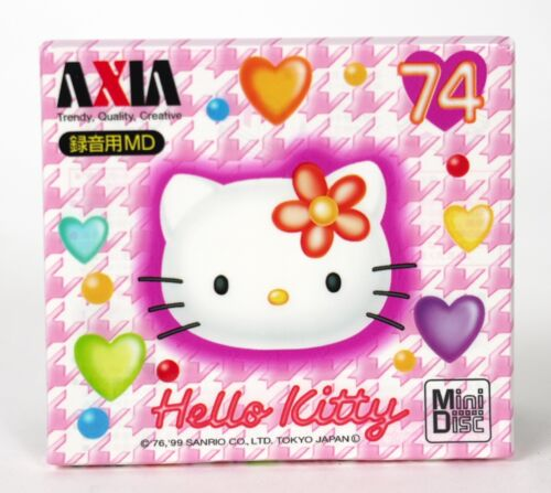 AXIA Hello Kitty minidisc mini disc Blank Disc Very Rare 74min Sealed! JAPAN