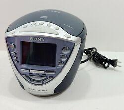 Sony Dream Machine CD Alarm Clock Radio Weather ICF-CD843V Tested, Exc Cond