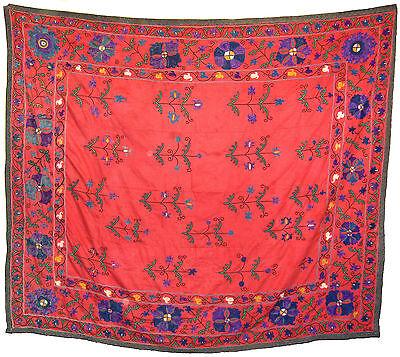 Old Antique Uzbek Handmade Embroidery Silk Susani Of Nurata 1930's ()