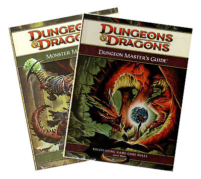 D&D-MONSTER MANUAL-CORE RULEBOOK & DUNGEON MASTER´S GUIDE-RPG-(HC)-engl.-new