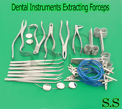 Extraction Set Dental Instruments Extracting Forceps-s.s-633