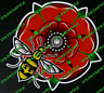 Manchester Bee Lancashire Rose bumper sticker car van window decal