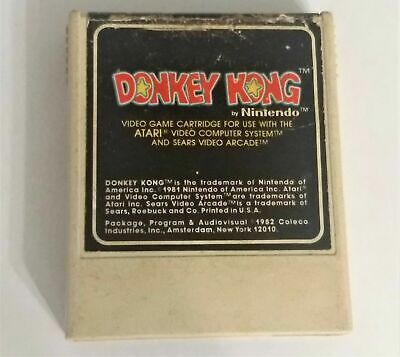 Donkey Kong (Atari 2600, 1982) Cleaned, Tested + Working! FREE Canada Shipping!