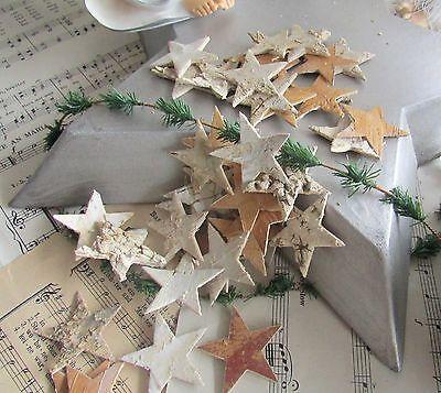 100 Birken Sterne 2,5cm Birkensterne natur Stern Streudekoration Adventskranz