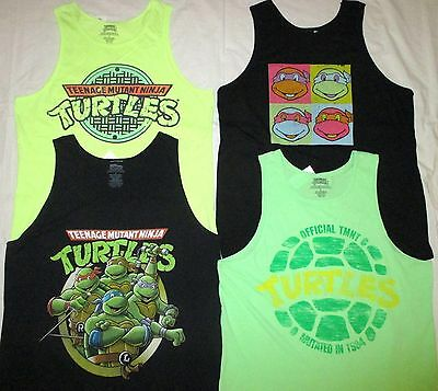 Men's S M L Teenage Mutant Ninja Turtles TANK TOP Shirts NEON GREEN YELLOW, - Tmnt Tank Top