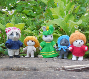 FASCINATORS & HATS Knitting Pattern for Sylvanian Families clothes easy to knit