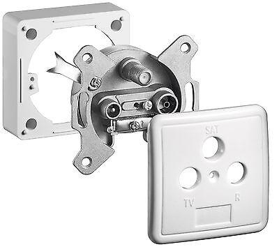 Sat Antennen-Dose+ Kabel Anschluss-Dose 3-fach End Dose Aufputz + Unterputz
