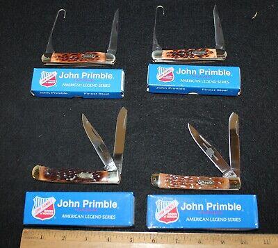 (4) John Primble Bone Handle Pocket Knives in Boxes Group #2 ---- Buy It Now!!!
