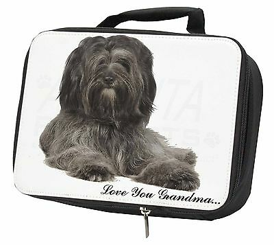 Tibetan Terrier 'Love You Grandma' Black Insulated School Lunch Bo, AD-TT2lygLBB