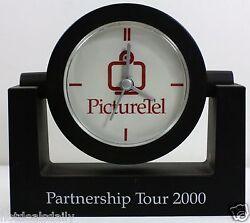 QUARTZ MOVEMENT DESK CLOCK SWIVEL HEAD PICTURE TEL TOUR SERIES 2000