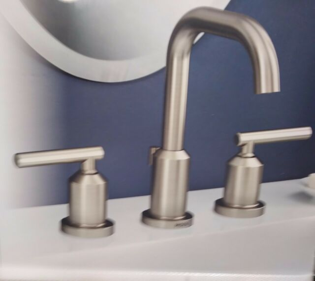 Moen WS84229SRN Two-handle High Arc Bathroom Faucet Spot Resist ...