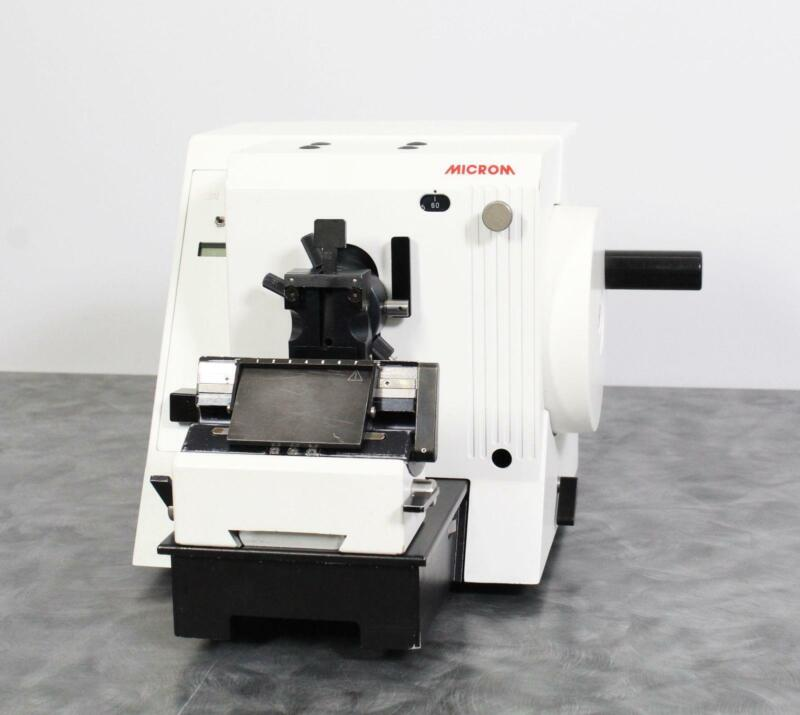 Microm HM 325 902120 Benchtop Manual Rotary Microtome w/ Adjustable Blade Holder