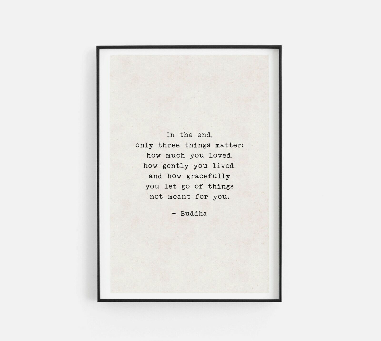 Home Decoration - In The End Buddha Life Quote Inspirational Poster Print Home Room Wall Art Decor