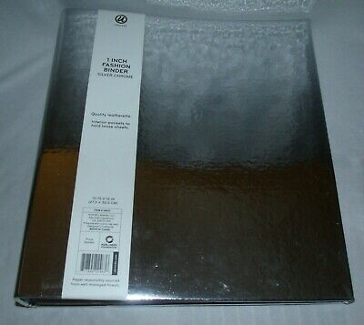 3 Ring Binder With Interior Pockets Quality Leatherette 1 Inch Fashion Binder