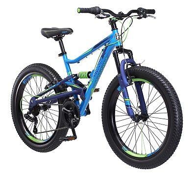 "24"" Mongoose Masher Mountain Bike-Blue/Green R7300TR"