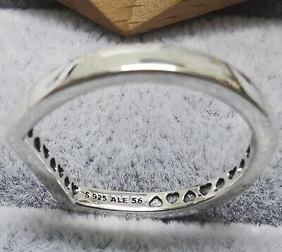Pandora Ring 199048C00 Logo Bar Stacking SIZE 56 S925 ALE