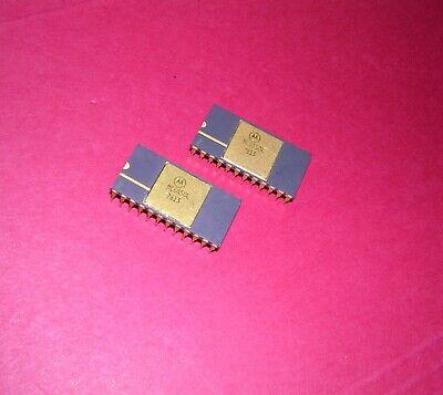 Tested Mc6850l Motorola Acia Gold Cerdip 197778 Or 79 Date Codes Lot Of 2