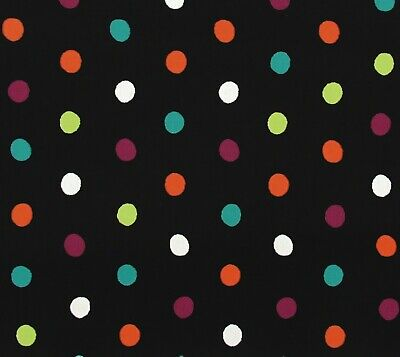 Black White Teal Orange Purple Lime Polka Dot Cotton Quilting Fabric By The Yard - The Purple Polka Dot