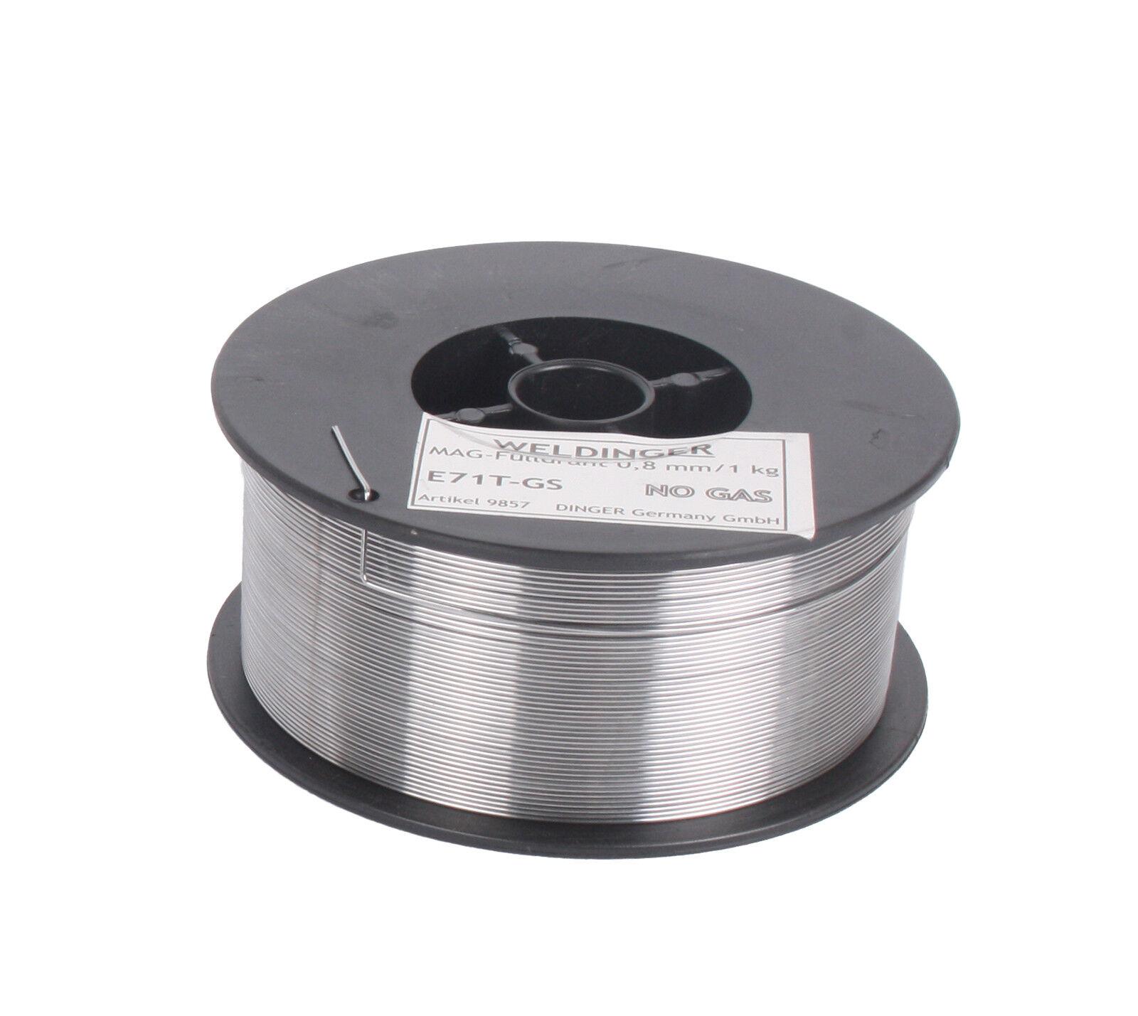 WELDINGER Fülldraht D100 0,8 mm 1 kg (MIG/MAG-Schweißdraht NoGas)