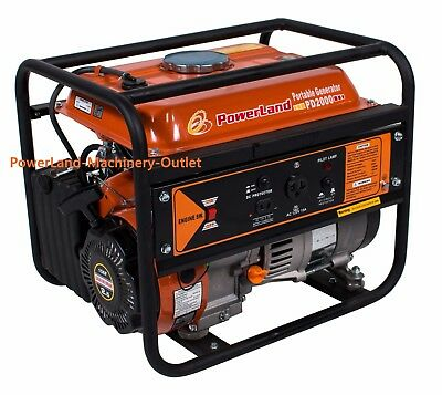 PowerLand PD2000 Small 1500 Watt 2.4HP Gas Generator/Recoil Start