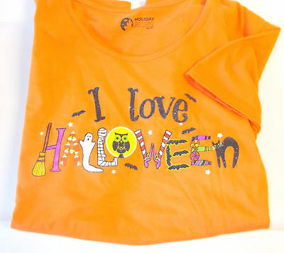 ove Halloween Short sleeve T-shirt Womens Plus 2X  NWT (Halloween Orange)