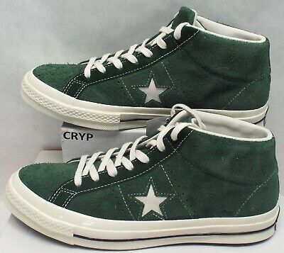 New Mens 9.5 Converse Pro One Star Mid Shadow Fir Suede Shoes $90 157700C