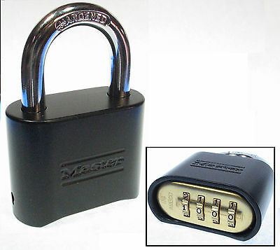Master Lock Combination 178blk Resettable Powder Coat Brass Insert Fast Shipping
