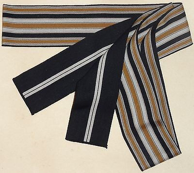 New Navy and Gold Men's Cotton Tanzen Obi for Yukata Kimono Made in Japan