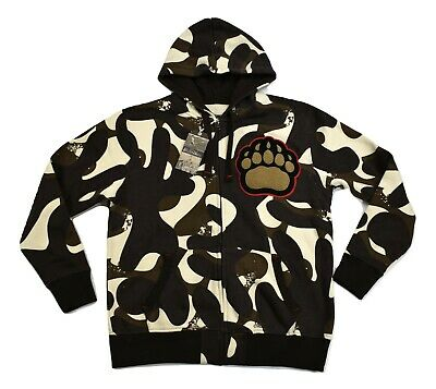 Mens Stall & Dean Brown University Bears Camo Varsity Hoodie Jacket NWT $75