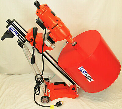 Bluerock 20 Z1ts 220v Concrete Core Drill W Tilting Stand Rolling Base