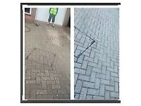Driveway pressure cleaning.