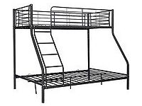 Metal Trunk Bunk Frame Black